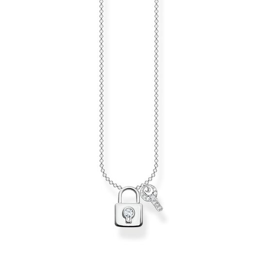 Necklace lock with key silver from the Charming Collection collection in the THOMAS SABO online store