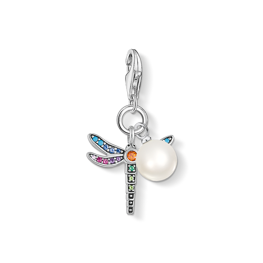 charm pendant dragonfly silver pearl from the Charm Club collection in the THOMAS SABO online store