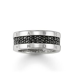ring eternity classic black from the Glam & Soul collection in the THOMAS SABO online store
