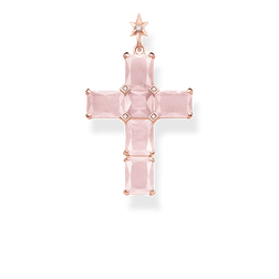 pendant cross pink stones with star from the Glam & Soul collection in the THOMAS SABO online store