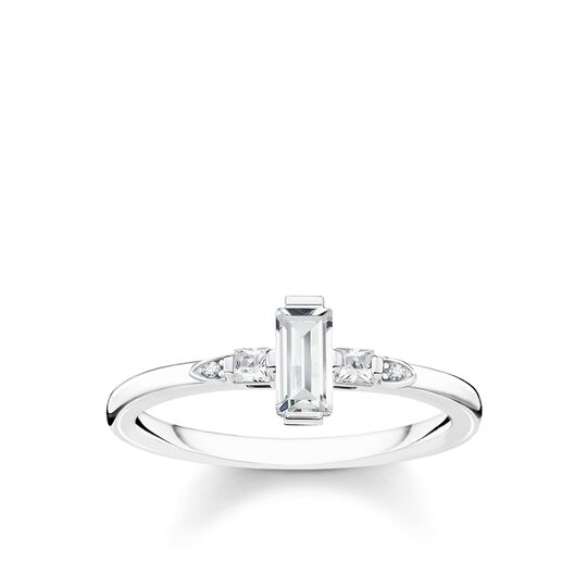 ring Stone baguette cut, white from the Glam & Soul collection in the THOMAS SABO online store