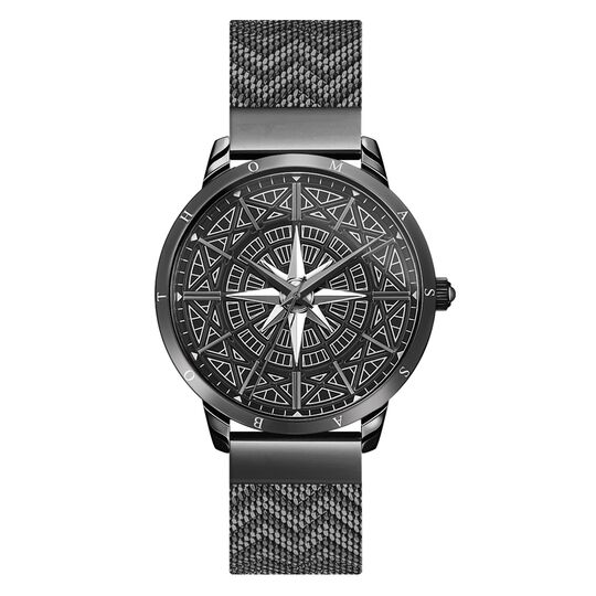 Men's watch Spirit Cosmos compass black from the Rebel at heart collection in the THOMAS SABO online store