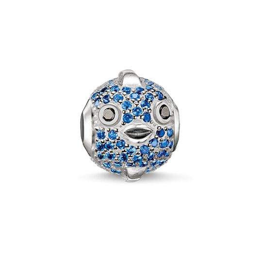 Bead poisson-globe fugu bleu de la collection Karma Beads dans la boutique en ligne de THOMAS SABO