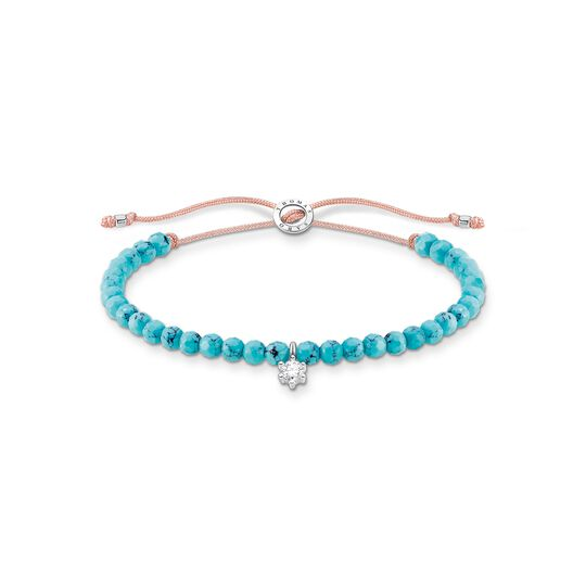 Bracelet turquoise pearls with white stone from the Charming Collection collection in the THOMAS SABO online store
