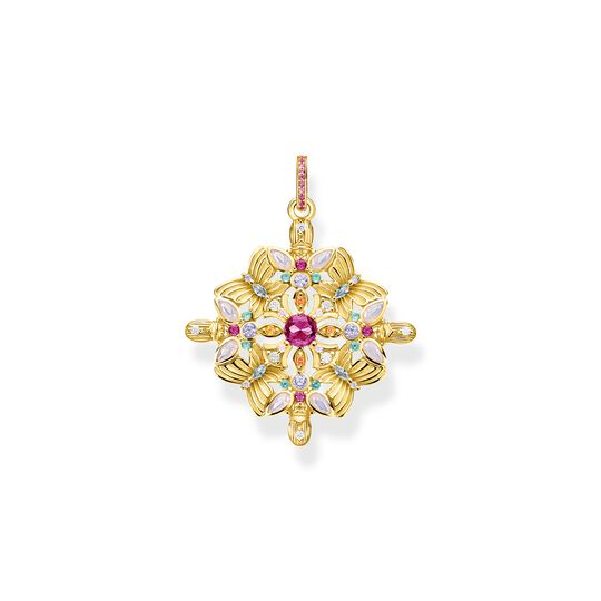 Pendant amulet kaleidoscope butterfly gold from the  collection in the THOMAS SABO online store