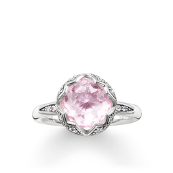 solitaire ring pink Lotos from the Glam & Soul collection in the THOMAS SABO online store