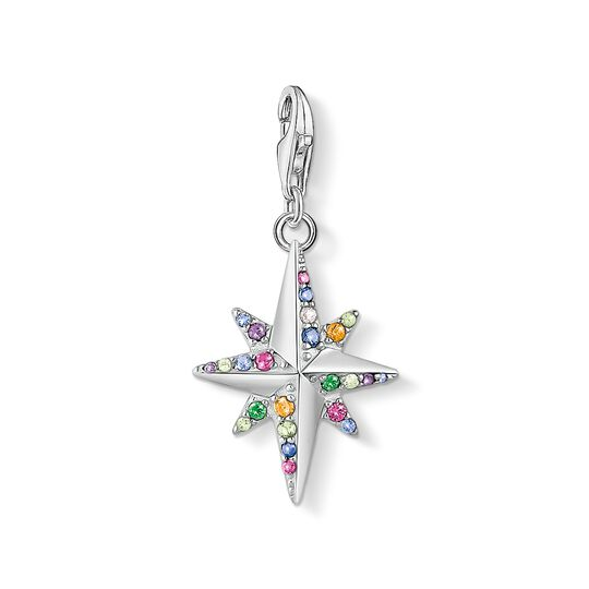 Charm pendant Colourful star, silver from the Charm Club collection in the THOMAS SABO online store