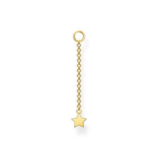 Einzel Ohrring Anhänger Stern gold aus der Charming Collection Kollektion im Online Shop von THOMAS SABO