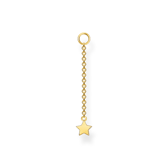 Single ear pendant star gold from the Charming Collection collection in the THOMAS SABO online store