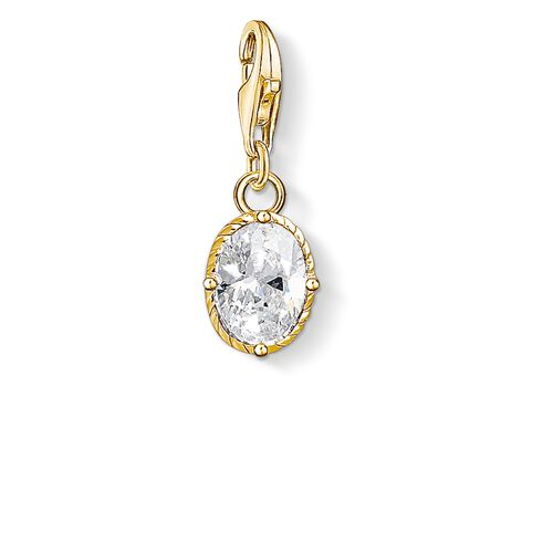 """Charm pendant """"white stone"""" from the  collection in the THOMAS SABO online store"""