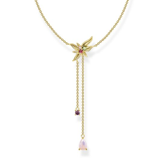 Necklace Y-Kette flower gold from the  collection in the THOMAS SABO online store
