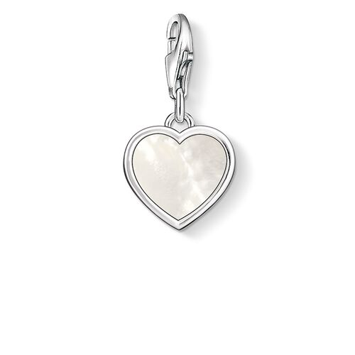 """Charm pendant """"mother-of-pearl heart"""" from the  collection in the THOMAS SABO online store"""