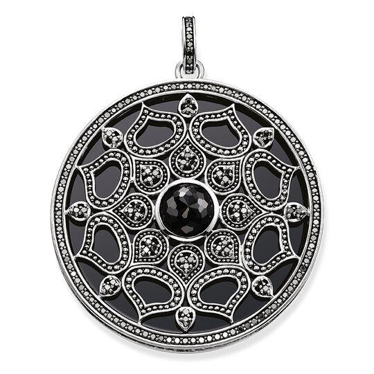 """pendentif """"lotus noir"""" de la collection Glam & Soul dans la boutique en ligne de THOMAS SABO"""