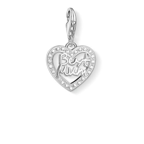 """Charm pendant """"heart BEST MUM"""" from the  collection in the THOMAS SABO online store"""