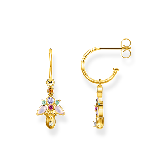 hoop earrings Bug gold from the Glam & Soul collection in the THOMAS SABO online store
