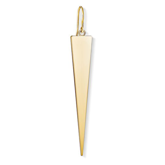 "earring ""triangle gold"" from the  collection in the THOMAS SABO online store"