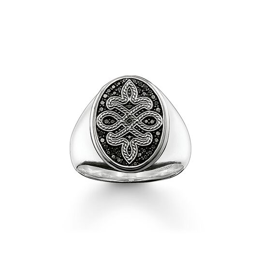 signet ring love knot from the  collection in the THOMAS SABO online store