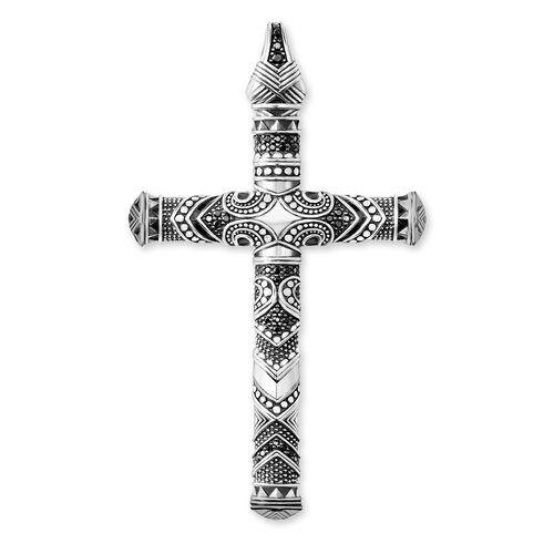 """pendant """"Maori Cross Large"""" from the Rebel at heart collection in the THOMAS SABO online store"""