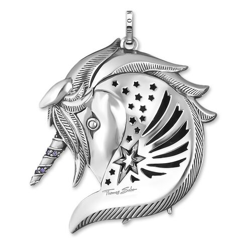 "pendant ""Royalty Unicorn silver"" from the Glam & Soul collection in the THOMAS SABO online store"