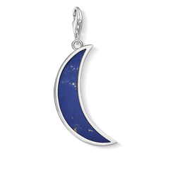 Charm pendant Moon dark blue from the  collection in the THOMAS SABO online store