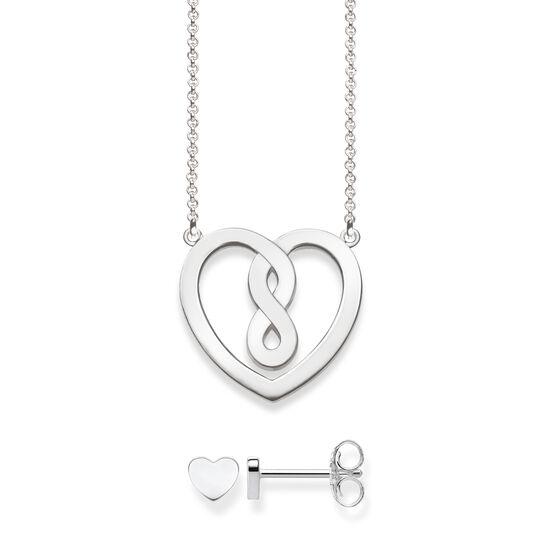 Halsband och stiftörhängen hjärta ur kollektionen  i THOMAS SABO:s onlineshop