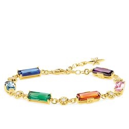 bracelet Colourful stones with golden stars from the Glam & Soul collection in the THOMAS SABO online store