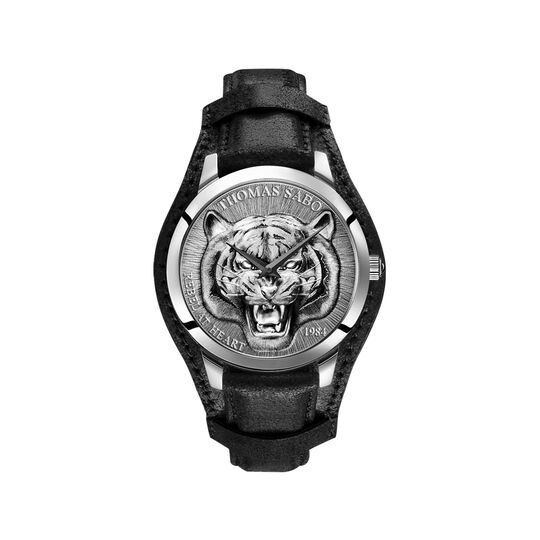 men's watch Rebel Tiger 3D black-silver from the  collection in the THOMAS SABO online store