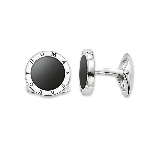 """cufflinks """"black"""" from the Rebel at heart collection in the THOMAS SABO online store"""