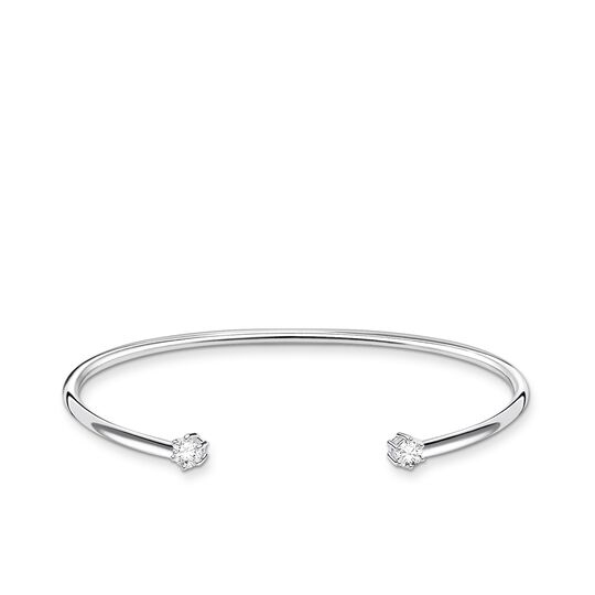 Bangle white stone from the Charming Collection collection in the THOMAS SABO online store