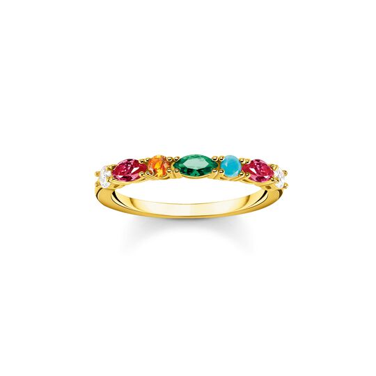 Ring colourful stones, silver from the  collection in the THOMAS SABO online store