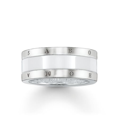 "band ring ""white ceramic"" from the Glam & Soul collection in the THOMAS SABO online store"