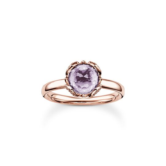 solitair ring purple Lotos Blossom from the  collection in the THOMAS SABO online store