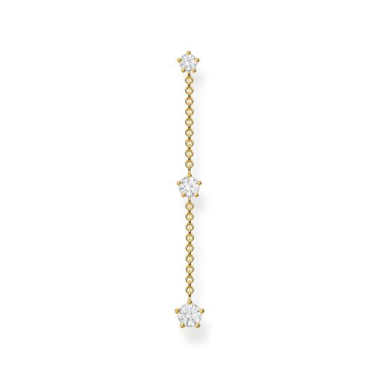 Single earring white Stones gold from the Charming Collection collection in the THOMAS SABO online store