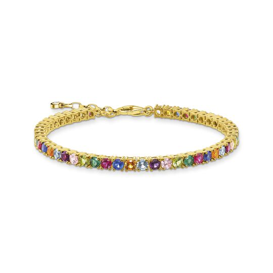 Bracelet colourful stones, gold from the  collection in the THOMAS SABO online store