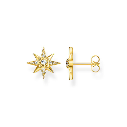 ear studs star gold from the  collection in the THOMAS SABO online store