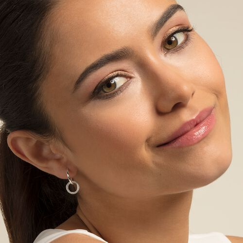 """hoop earrings """"circle"""" from the Glam & Soul collection in the THOMAS SABO online store"""