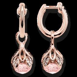 """orecchini a cerchio """"fiore di loto rosa"""" from the Glam & Soul collection in the THOMAS SABO online store"""