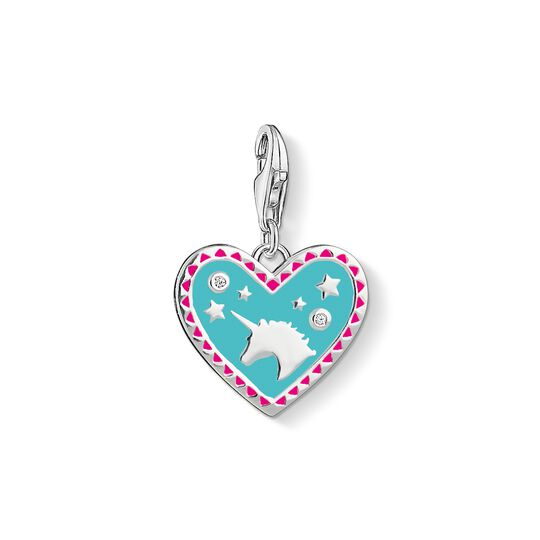 Charm pendant Heart with unicorn from the Charm Club collection in the THOMAS SABO online store