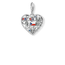 Charm pendant We love Prague silver from the Charm Club Collection collection in the THOMAS SABO online store