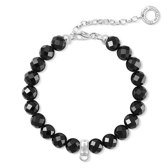 Charm bracelet black from the Charm Club collection in the THOMAS SABO online store