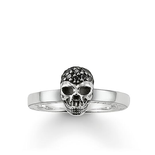 """ring """"skull pavé"""" from the Rebel at heart collection in the THOMAS SABO online store"""