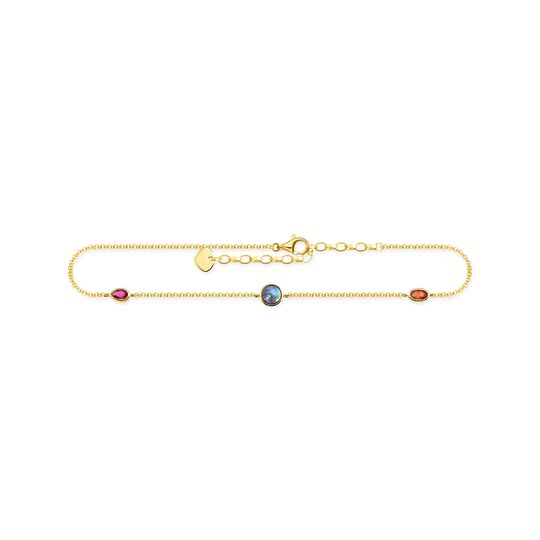anklet Colourful stones, gold from the  collection in the THOMAS SABO online store