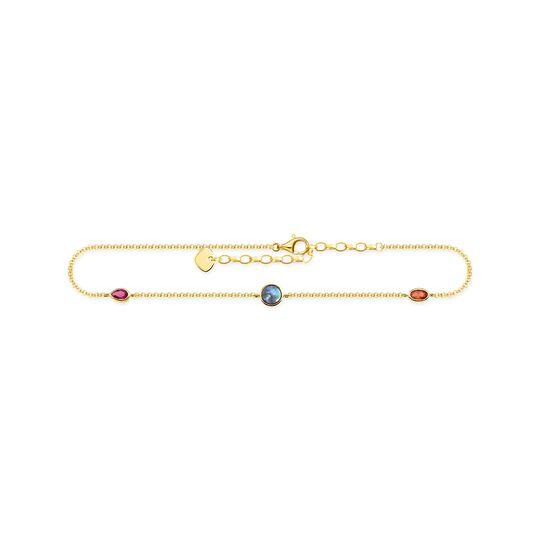 Fußkette Farbige Steine gold aus der  Kollektion im Online Shop von THOMAS SABO