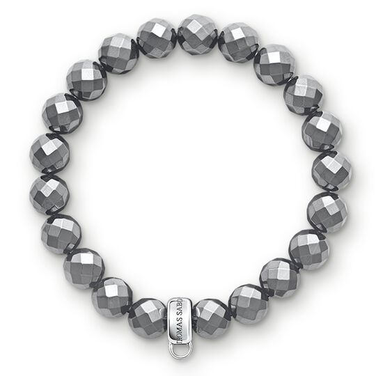 Charm bracelet hematite from the Charm Club collection in the THOMAS SABO online store