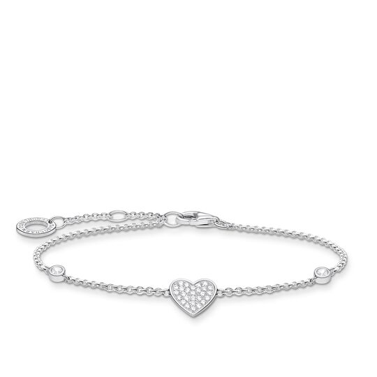 Bracelet heart with stones silver from the Charming Collection collection in the THOMAS SABO online store