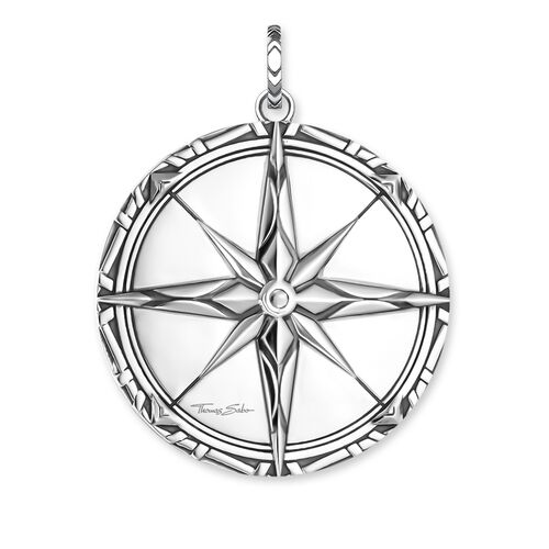 """pendant """"compass large"""" from the Rebel at heart collection in the THOMAS SABO online store"""