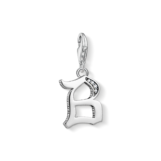 Charm pendant letter B silver from the Charm Club collection in the THOMAS SABO online store