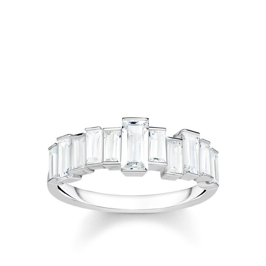 ring White stones baguette cut from the Glam & Soul collection in the THOMAS SABO online store
