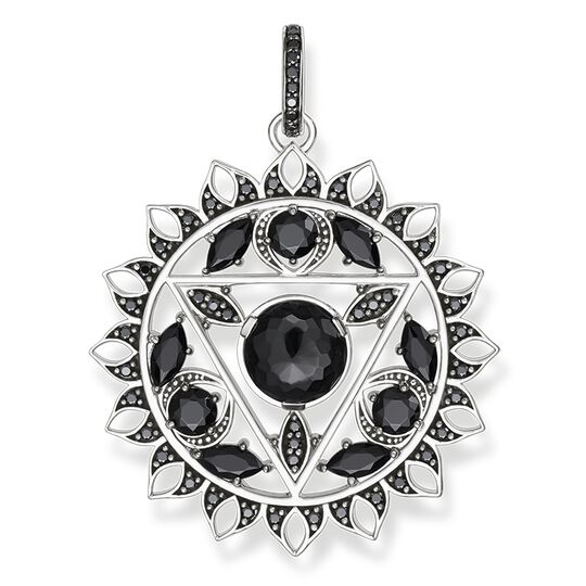 "pendant ""black throat chakra"" from the Chakras collection in the THOMAS SABO online store"