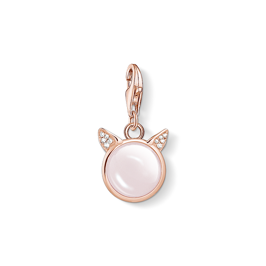 charm pendant cat's ears rose gold from the Charm Club collection in the THOMAS SABO online store